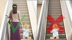 Những lưu ý khi cho trẻ đi thang cuốn